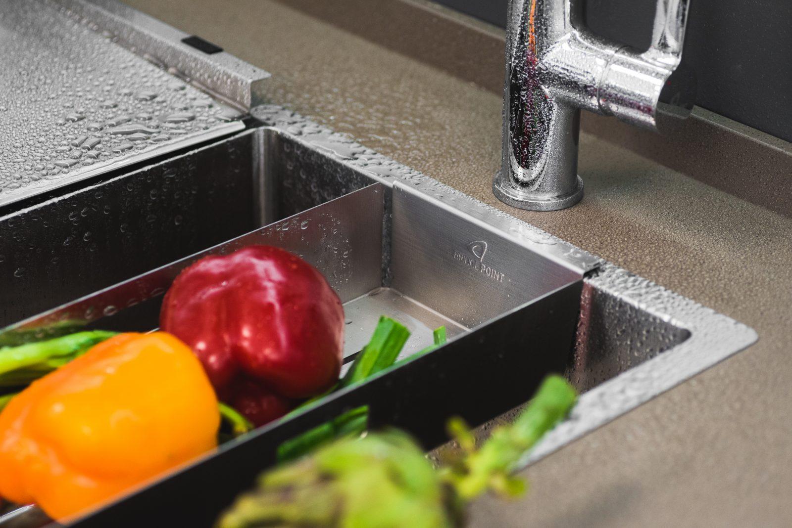 Bridgepoint Hand made stainless steel kitchen sink accessories