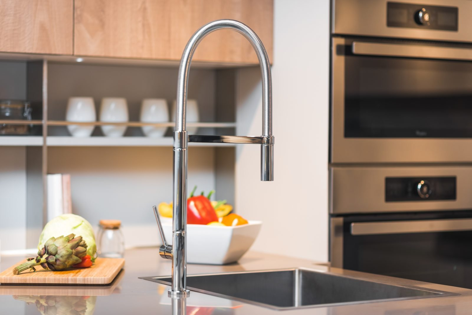 Bridgepoint handemade sink and catering style kitchen tap