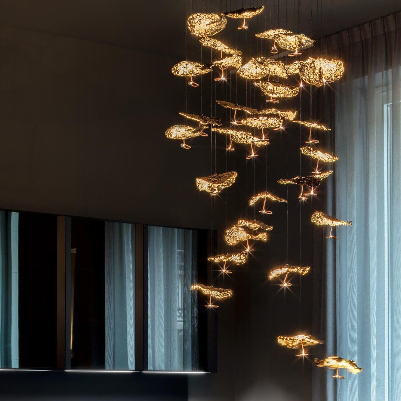 CATELLANI & SMITH - GOLD MOON CHANDELIERE