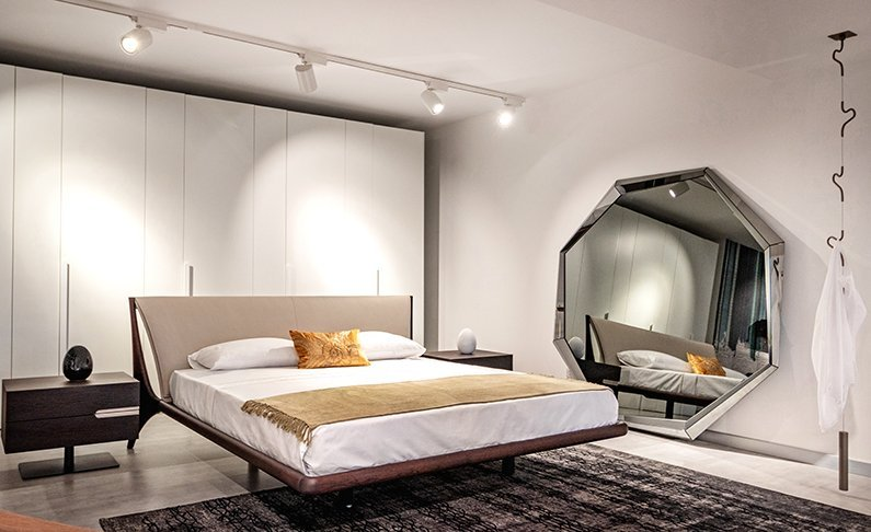 Cattelan Italia bed and mirror