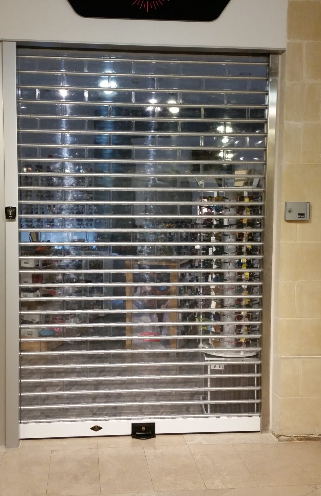 Commerical Roller Shutter Perspex
