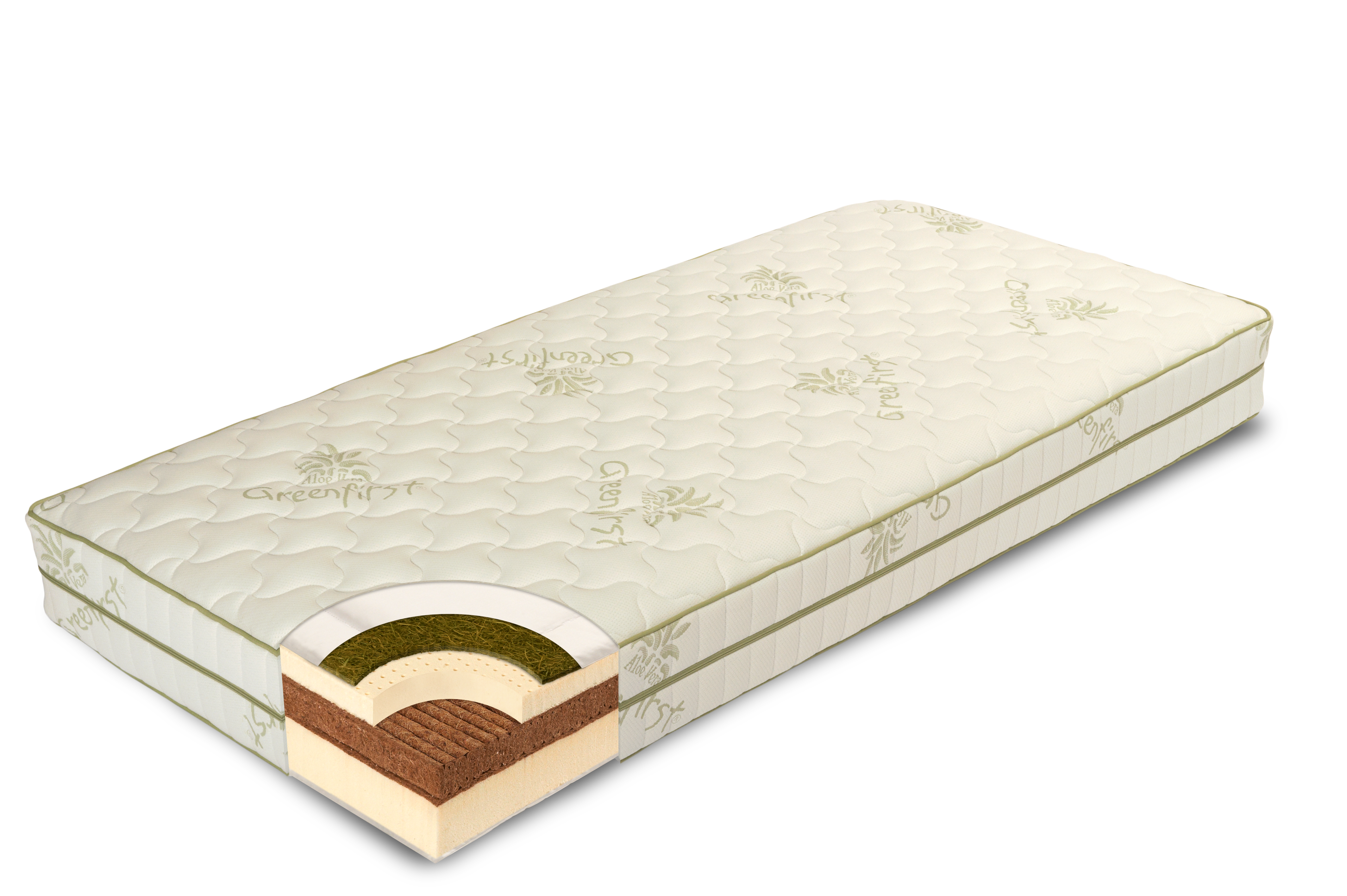 Cross section of a Coco-lat mattress