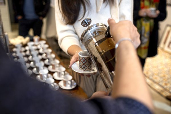 Serving Maltese Coffee brew