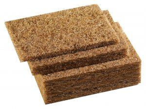 Processed coconut fibres