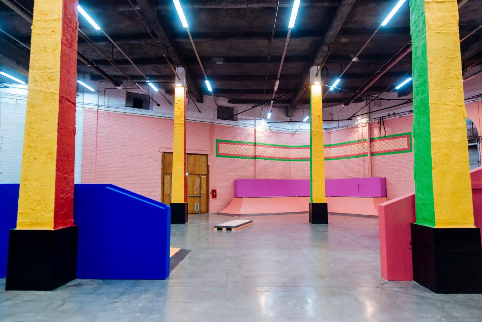 Yinka Ilori Indoor Skatepark in La Condition Publique Lille France