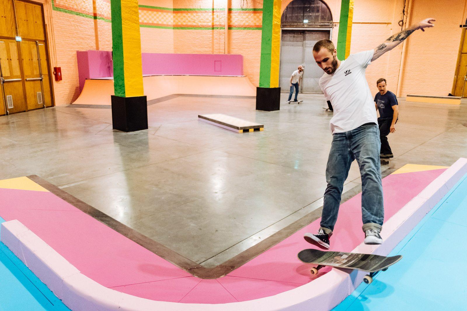 Yinka Ilori Skatepark at La Condition Publique, Lille France