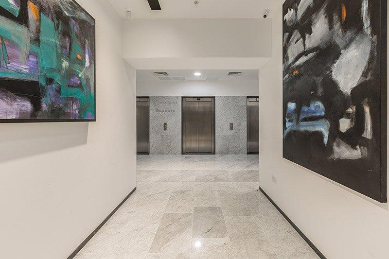 Carrara marble raised flooring MeDirect