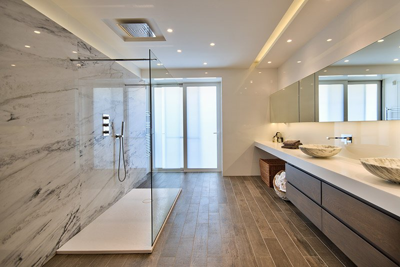 Marble bathroom private residence