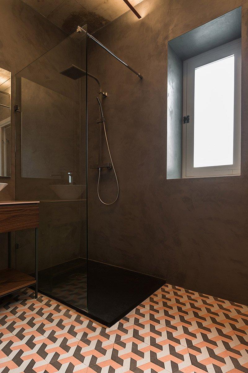 Pattern Tiles in Bathroom Boutique Hotel